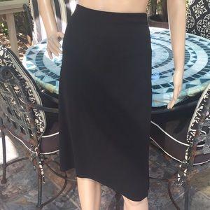 Max Studio Rayon and Polyester Black Skirt